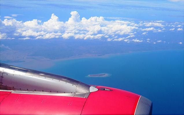 Der Anflug auf Bali....