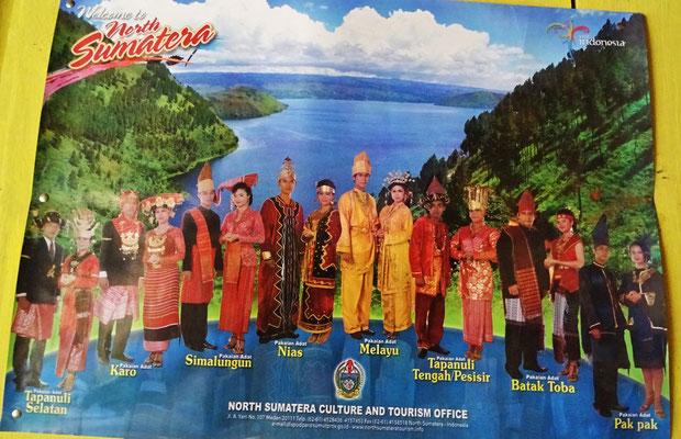 Die traditionellen Batak-Kleider