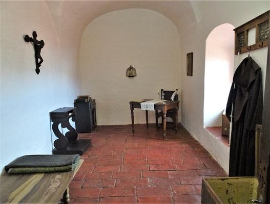 Das einfache Zimmer der Pater.