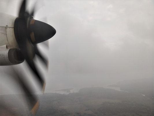 ......und so sah dann der Landeanflug....