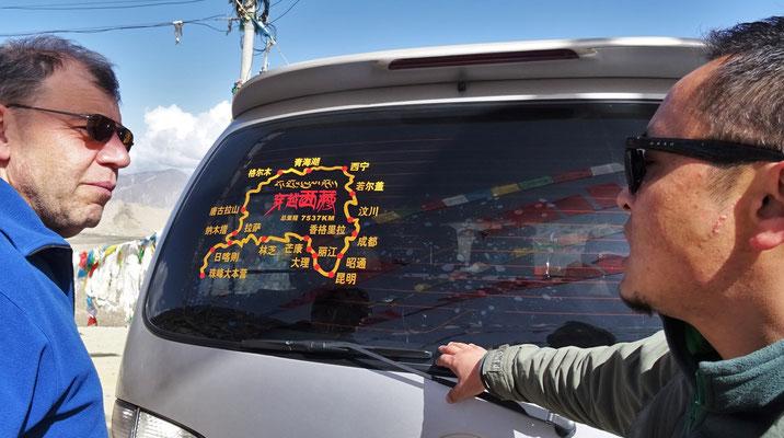 7'537km Rundfahrt der Chinesen in 14 Tagen.