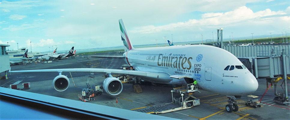 Mit dem A380 verlassen wir Neuseeland