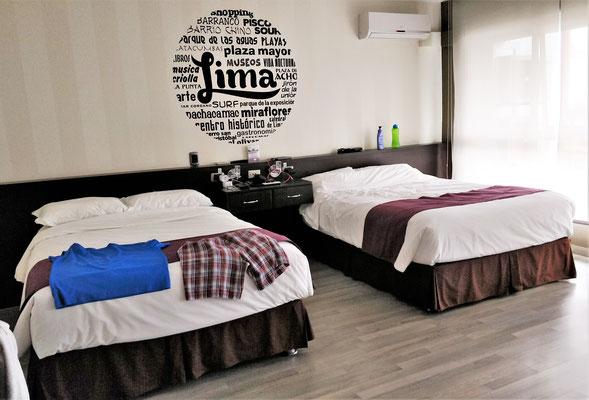 Unser grosszügiges Zimmer.....