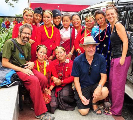 Gruppenfoto mit 2 anderen Travellers