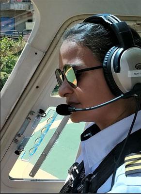 .....mit der Pilotin....