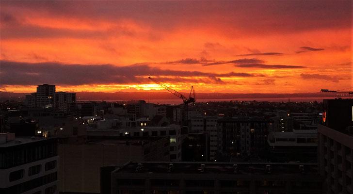 ...sahen wir diesen Sonnenuntergang.