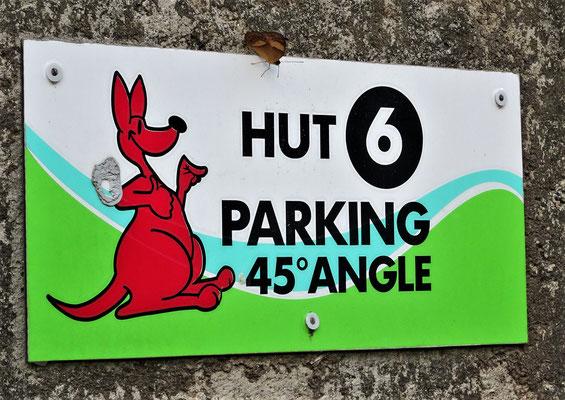 Auch der Schmetterling parkiert im 45° Winkel 😊,