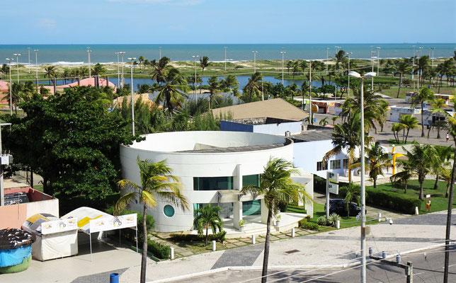Der Blick vom Hotelbalkon auf......