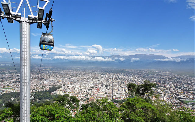 ......auf die Stadt Salta.