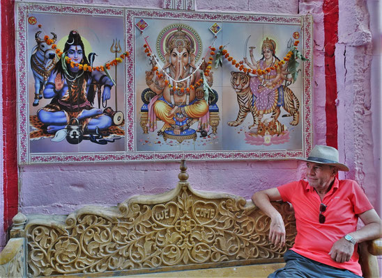 Eine Pause bei Rama, Ganesha und Shiva.
