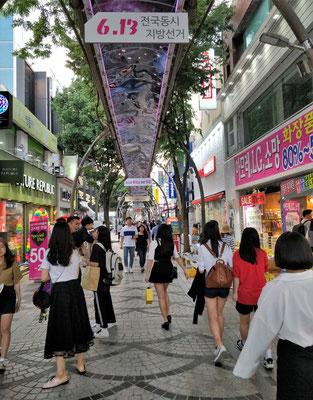 Die Shopingmile von Jeonju.