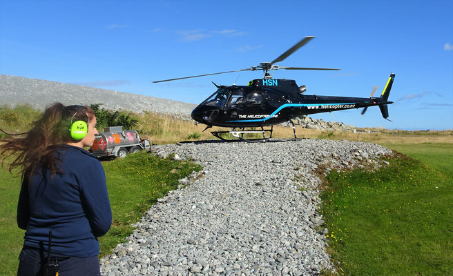 Dies ist unser Helikopter mit 6 Sitzplätzen.