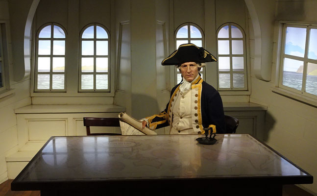 .....Kapitän Cook. (Foto vom Tussaud Museum)
