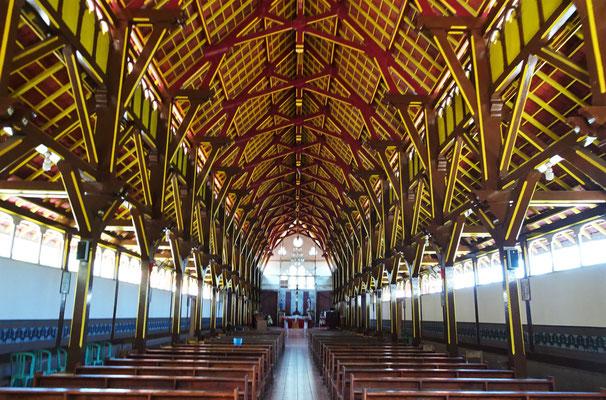 Das Dach mit seiner Holzkonstruktion.