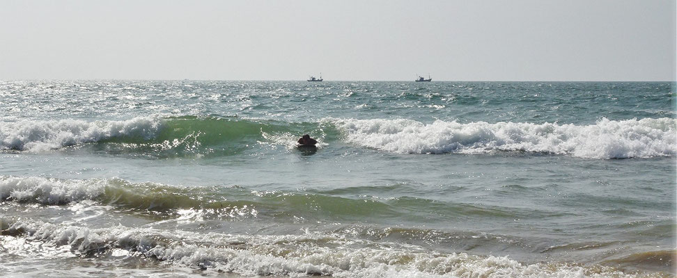 ....die Wellen so richtig....