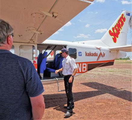 Unser Pilot Brad und....