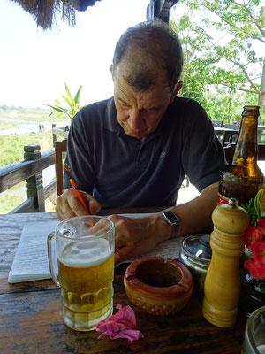 ..alles aufschreiben....mit Bier...☺