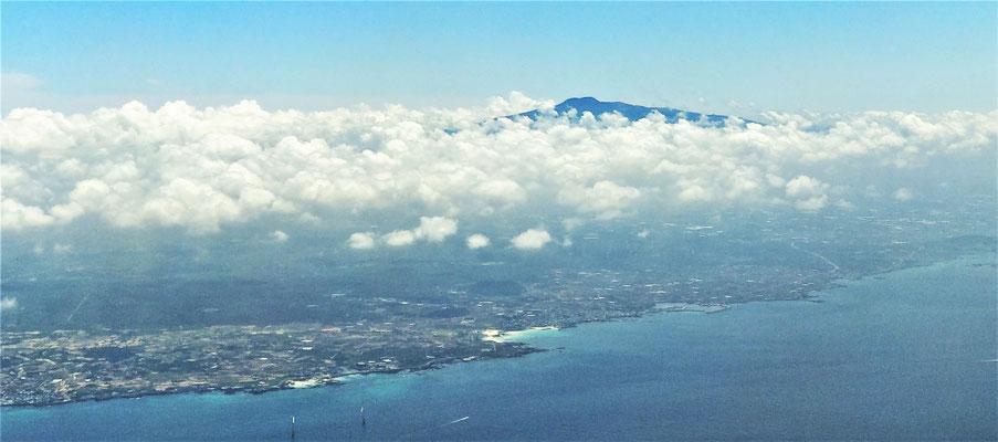 Landeanflug auf Jejudo....