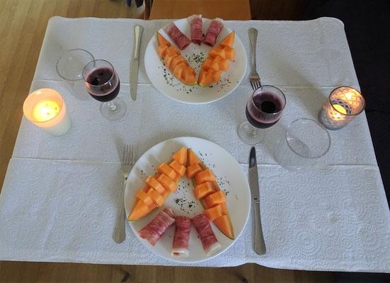 Melone und Prosciutto