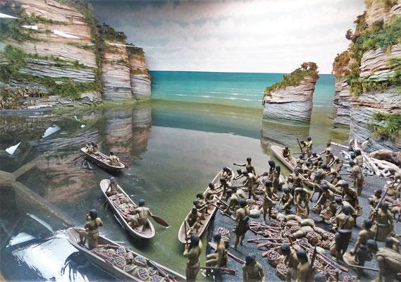Das ist das Diorama des Musketen Krieges...