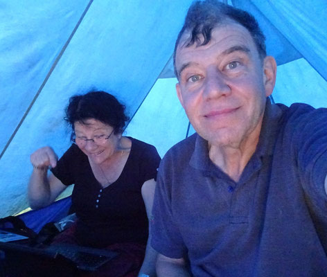 Das Selfi im Zelt...