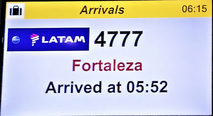 Ankunft in Sao Paulo.