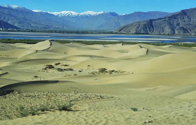 ...vorbei an Sanddünen