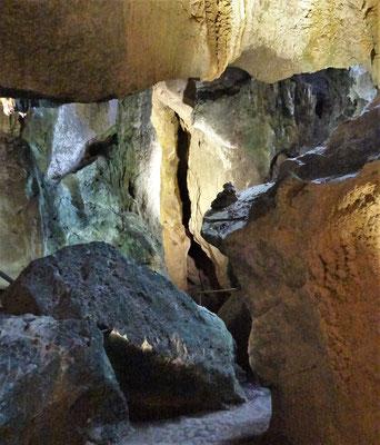 Diese Kalksteinhöhlen sind......