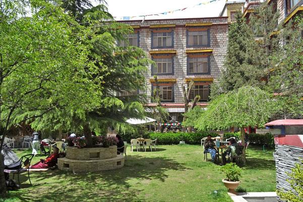Unser Hotel Kichu in Lhasa mit...