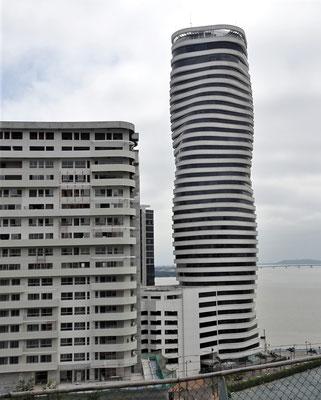 Der moderne Teil der Stadt....