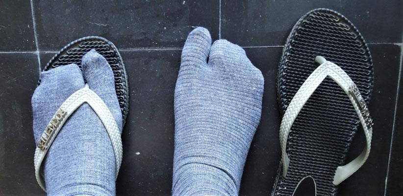 Colette's Flip Flop Socken für kalte Tage.