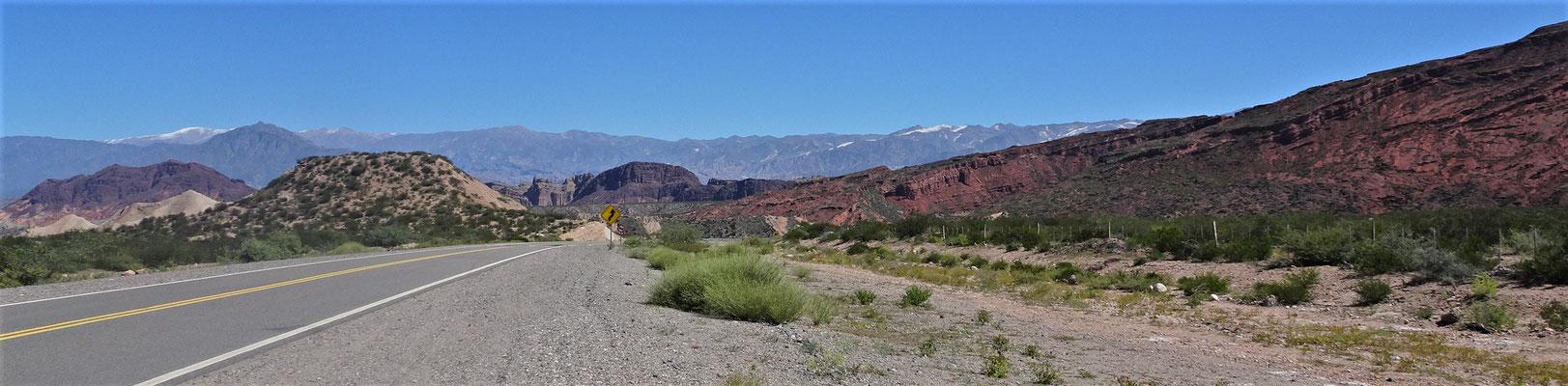 Die Chilenischen Berge im Hintergrund....