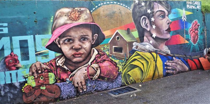 Viele Graffiti-Künstler......