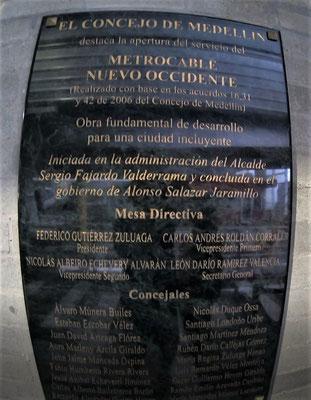 ......der 5 Gondelbahnen in Medellin.