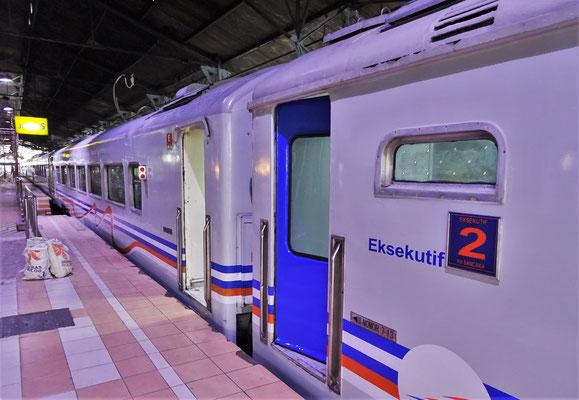 Unser Zug von Yogyakarta nach Mojokerto.