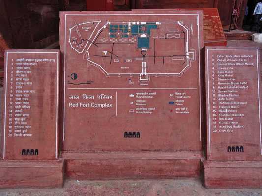 Das Red Fort...