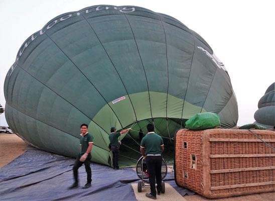 ....um die Ballone aufzublasen.