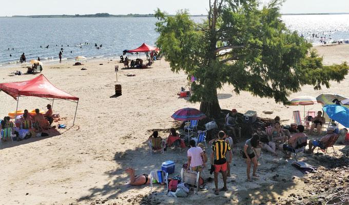 Strandleben am See.