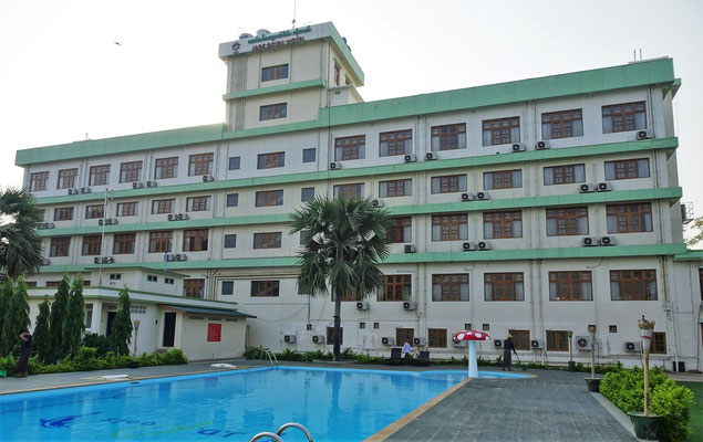 Unser Hotel in Monywa das...