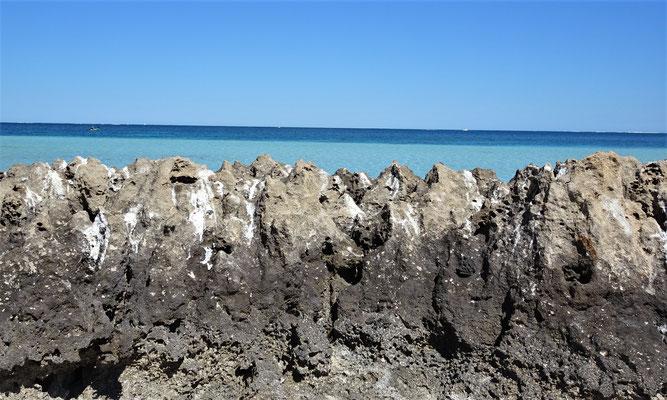 Auch Felsen fand man hier.