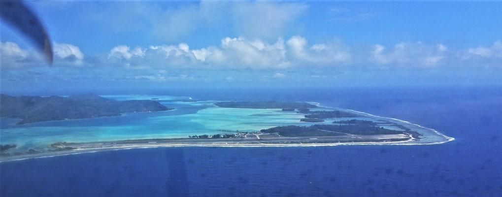 Anflug auf Bora Bora.....