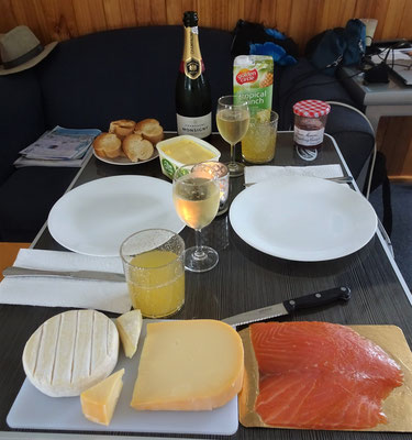 Unser Champagner Frühstück am 1.1.2017