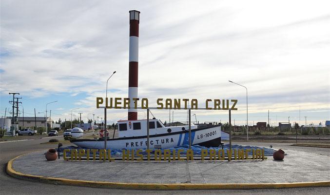 ......nach Puerto Santa Cruz.....