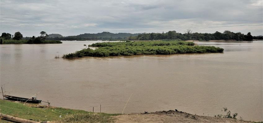 Der Blick auf den Mekong.