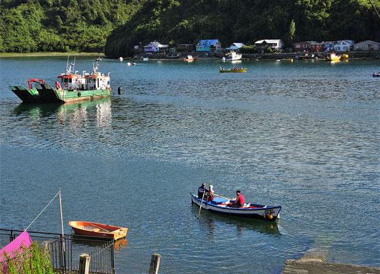 .....mit den Fischerbooten..