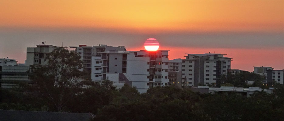 ......auf den Sonnenuntergang.
