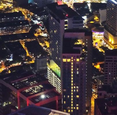 Unser Hotel Invito vom KL Tower aus gesehen.
