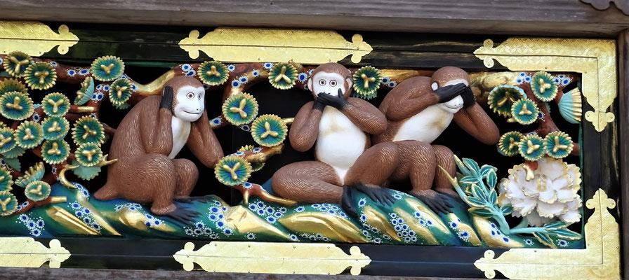 Von hier stammen die 3 Affen.....