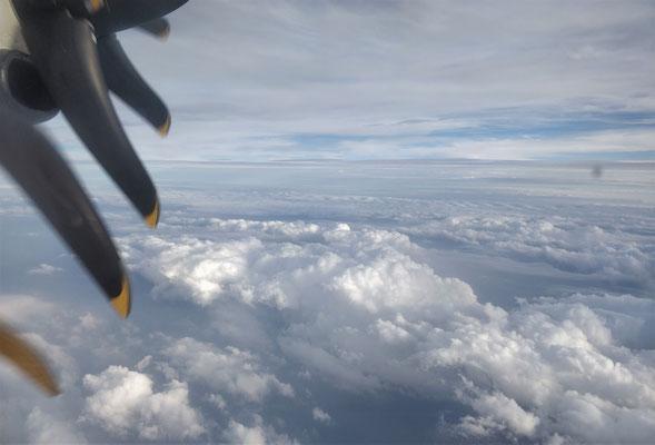 Die Wolken wurden schnell dichter.....