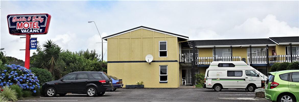 Unser Motel in New Plymouth und.....